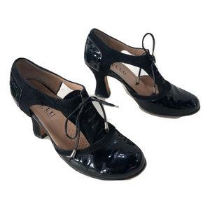 Anyi Lu Patent Leather Heels, Size 6